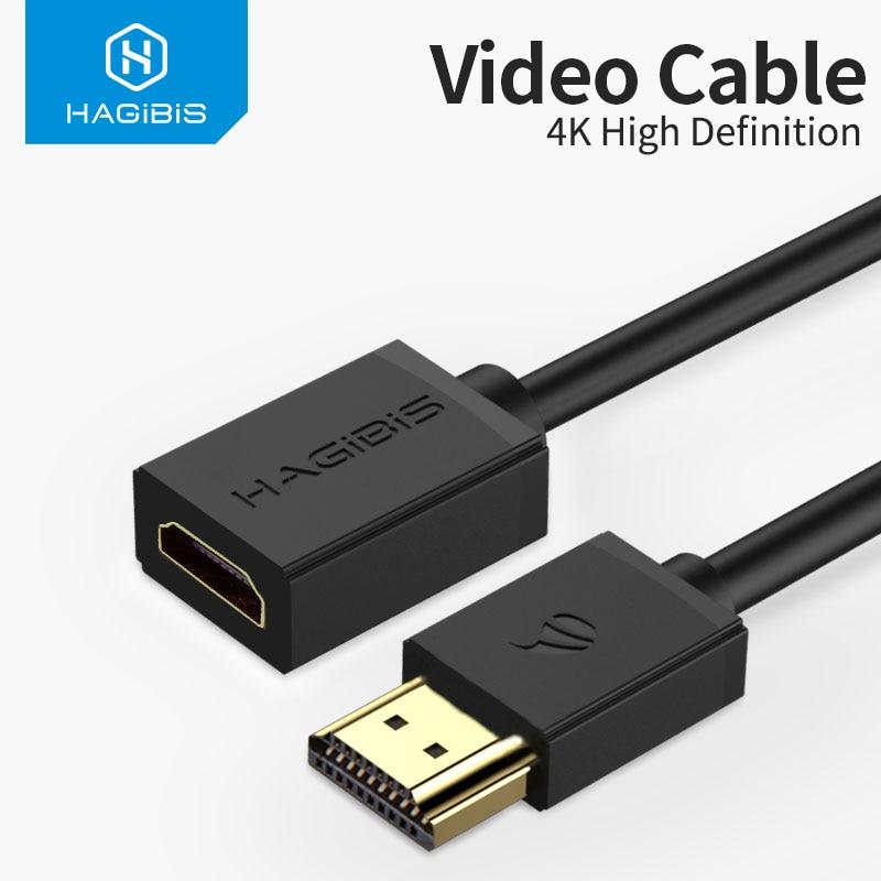 Hagibis HDMI-compatible Extension Cable 4K HDMI-compatible 2.0 male to female extender for Computer/
