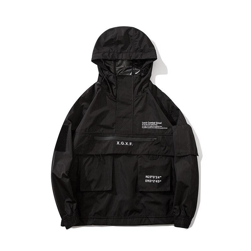 Spring 2020 new diablo style Breathable Tactical Blazer men's loose multi-pocket hooded jacket