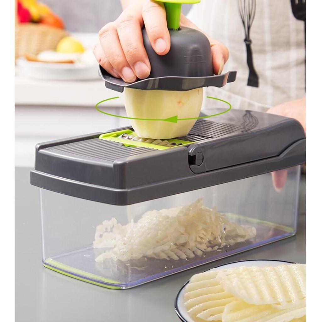 Cortador de verduras multifunción 7 en 1 rallador Manual de patatas y zanahorias cortador de cebolla cortador de comida fácil cortadores para cocina # Z