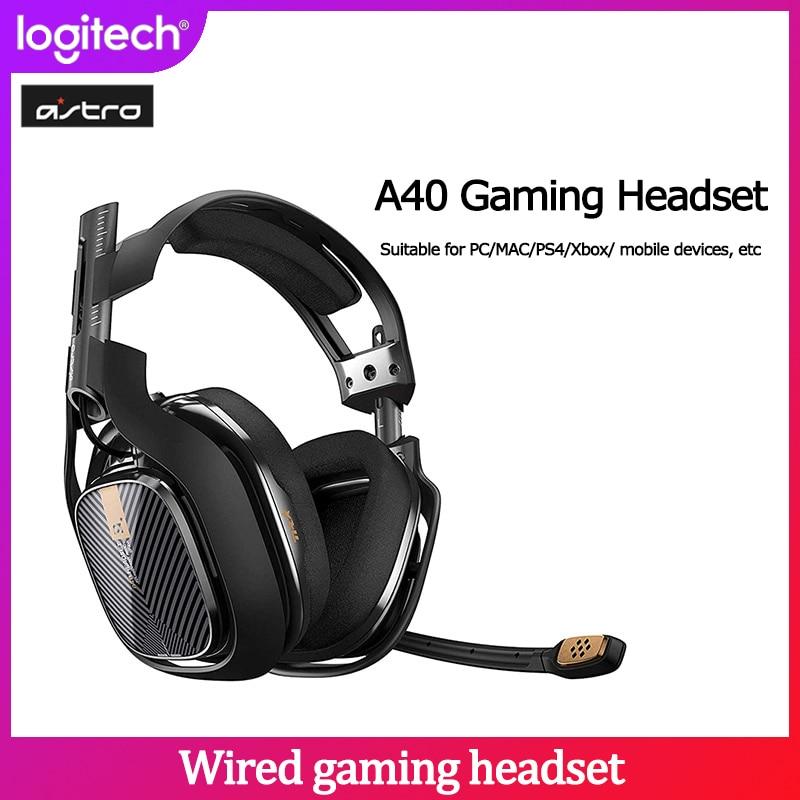 Auriculares para juegos Logitech Astro A40 con cable de 7,1 canales con micrófono adecuado para PC MAC PS4 Xbox e-sports