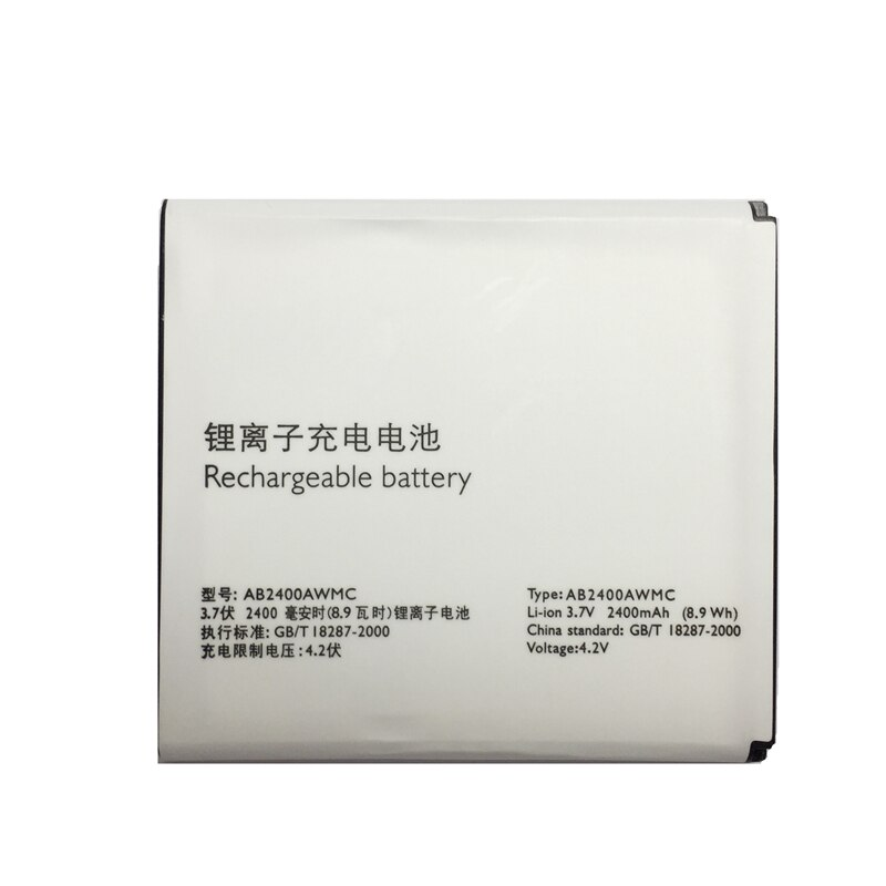 2400mAh AB2400AWMC batería para Philips XENIUM W6500 W732 W832 W736 W737 D833 CTW6500 CTW732 CTW832 de la batería del teléfono móvil