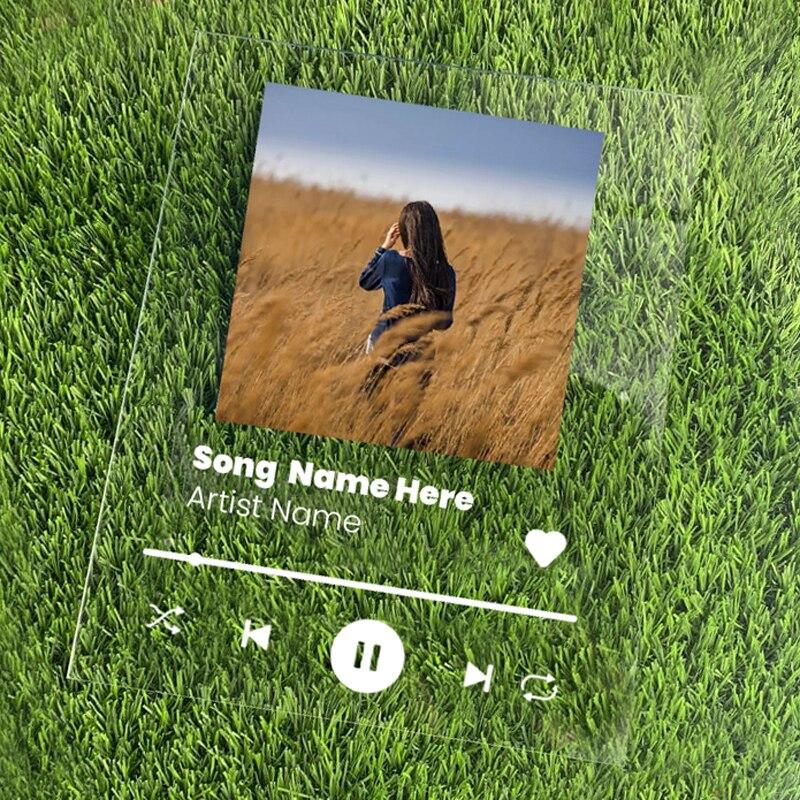 Música personalizada plauqe personalizado favorito música álbum capa presentes christams