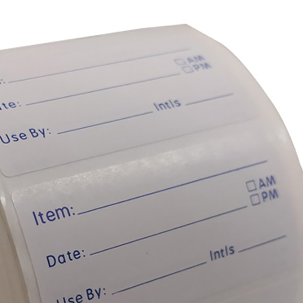 500 Pieces/Roll Food Prep Canning Labels - Pantry Meal Containers Completely Removable and Washes Off in Seconds