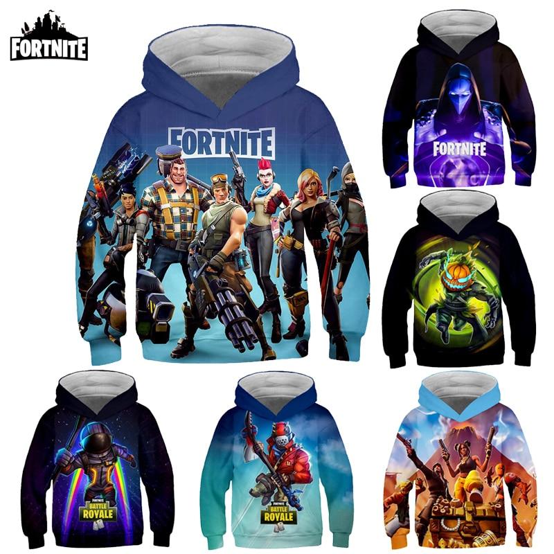 Fortnite Kids Hoodies Game 3D Printed Sweatshirt Long Sleeve Clothes for Teens Boys Girls 3-14Years