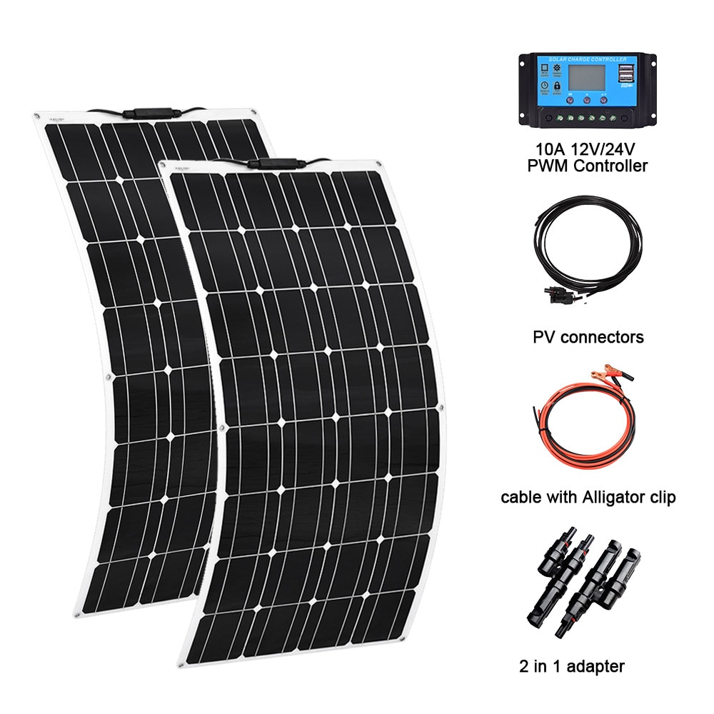 solar energy whole solar system 100w flexible solar panel 200w 100w power home kit solar three types