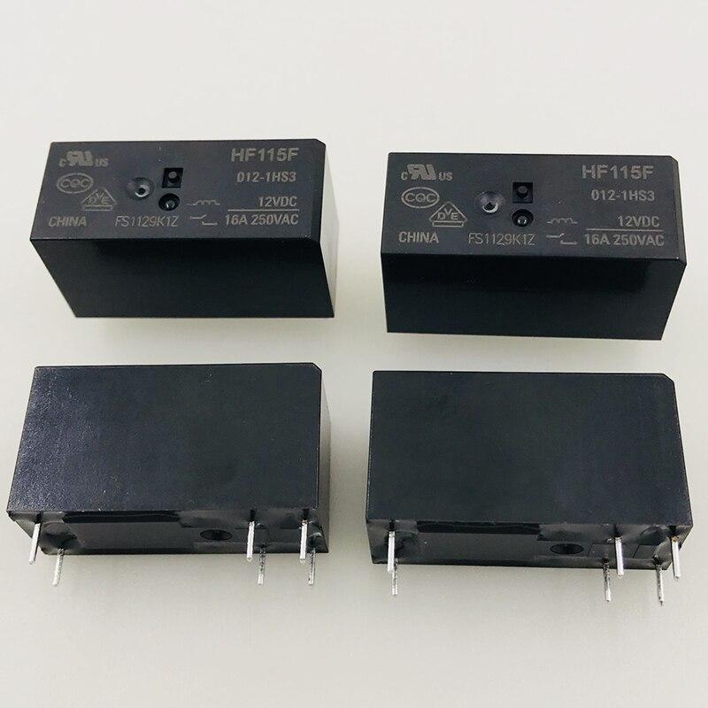 New 10pcs/lot relay HF115F-012-1HS3 JQX-115F-012-1HS3 6PIN16A