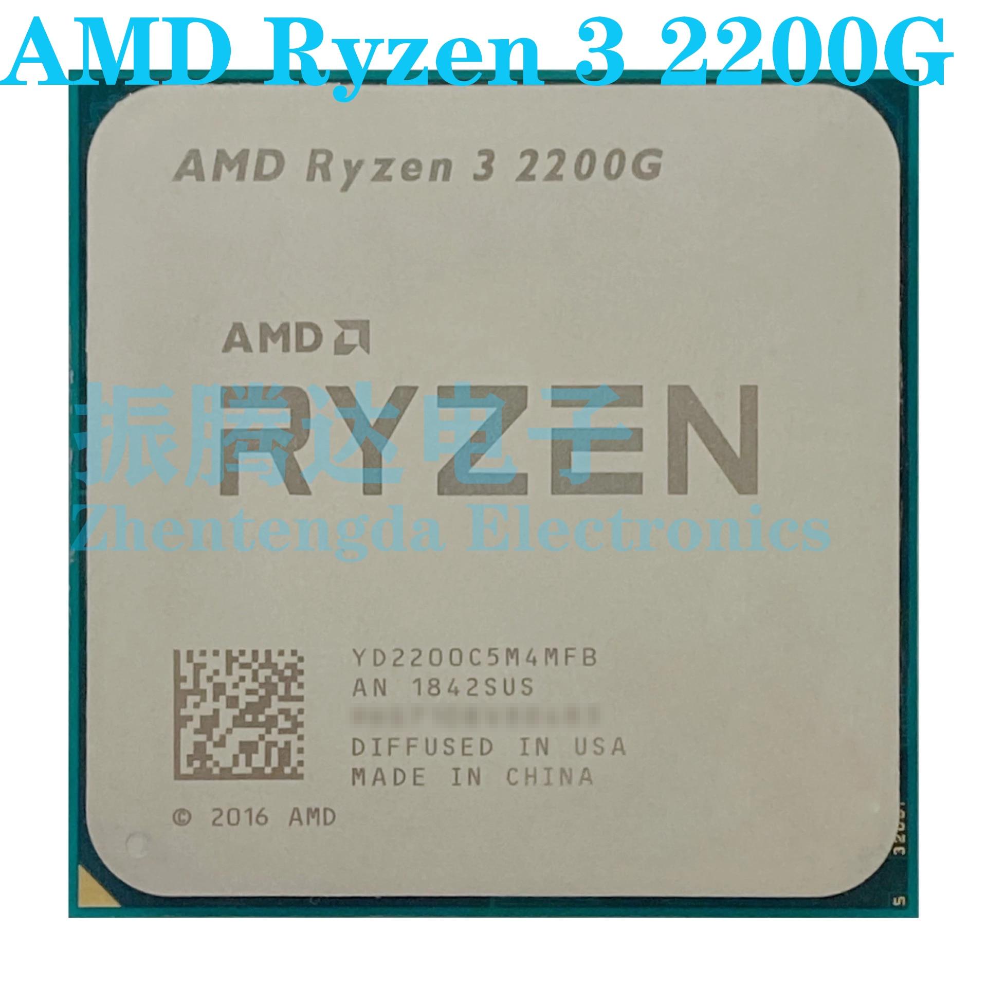 AMD Ryzen 3 2200G CPU 3.5GHz 4MB 4 Core 4 Threads Socket AM4 R3-2200G CPU Processor