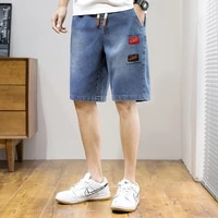 men embroider shorts summer new arrival hot sale fashion casual high quality elastic denim shorts male designers jeans shorts