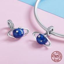 Authentic secret planet necklace pendant 925 sterling silver original bracelet charms beads fit Pandora charm jewelry making