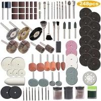 new type 1 set of 248pcs mini drill multi rotary tool accessories set grinding polishing kits for dremel