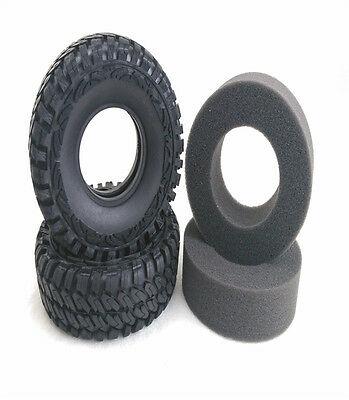 Émulation 1.9 pouces 114*40mm pneu W/éponge partie bricolage pour 1/10 roche chenille RC voiture