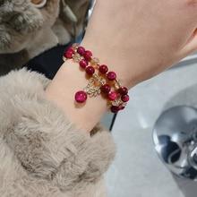 Japanese and Korean Temperamental Mori Style Crystal String Beads Bracelet Ins Special-Interest Desi