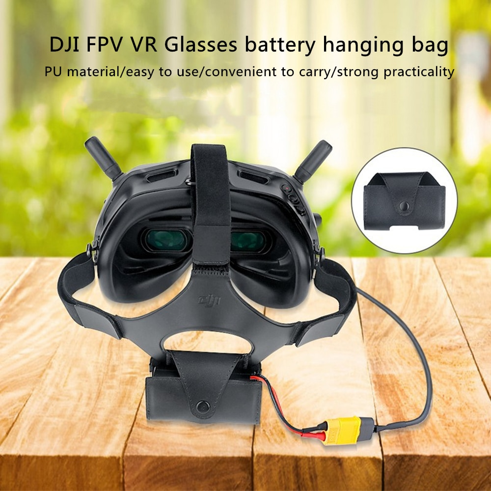 DJI FPV V2 Glasses Battery Power Cord Accessories Glasses Battery Storage Bag Hanging Bag for DJI FPV Accessories