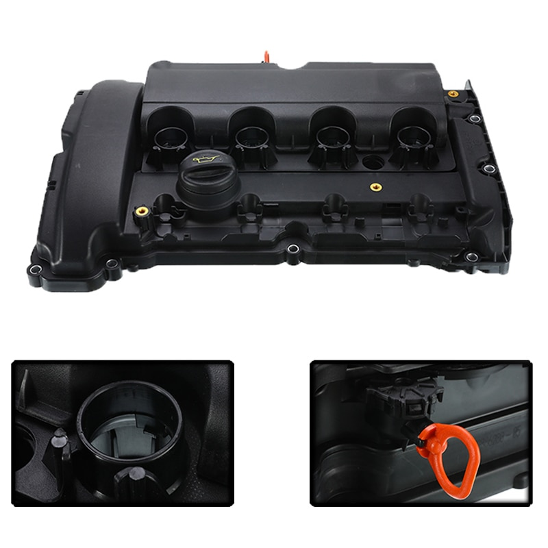 1Pc Car Petrol Engine Cylinder Valve Cover & Gasket V759886280 For Peugeot 3008 308CC RCZ For Citroen C4L 1.6T Auto Accesories