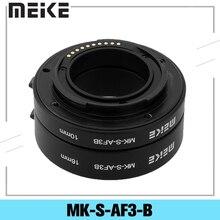 Meike MK-S-AF3-B Kunststoff Extension Tube Nähe Erschossen Adapter Ring Objektiv für Auto Fokus Sony NEX Micro DSLR 10mm 16mm E-Mount Kamera