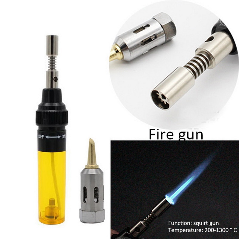 Gas Welding Soldering Irons 1300 Celsius Butane Welding Pen Shaped Burner Blow Torch Gas Soldering Iron Cordless Butane Tip Tool