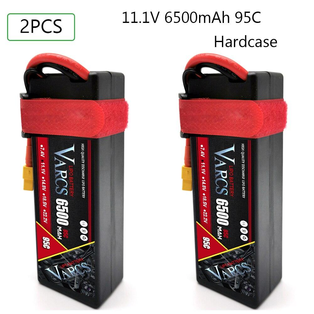 2PCS VARCS RC Battery Lipo 2S 3S 4S 7.4V 11.1V 14.8V 6500MAH 8400MAH 7000mah 95C 100C 120C 140C  for 1:8 1:10 Truggy Car enlarge