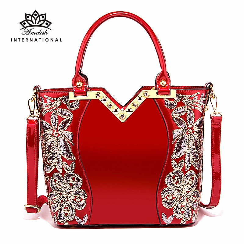 AMELISH Fashion Bags for Women 2021 Brand Designer Hand Bag Diamond Female Shoulder Handbag Top-Hand