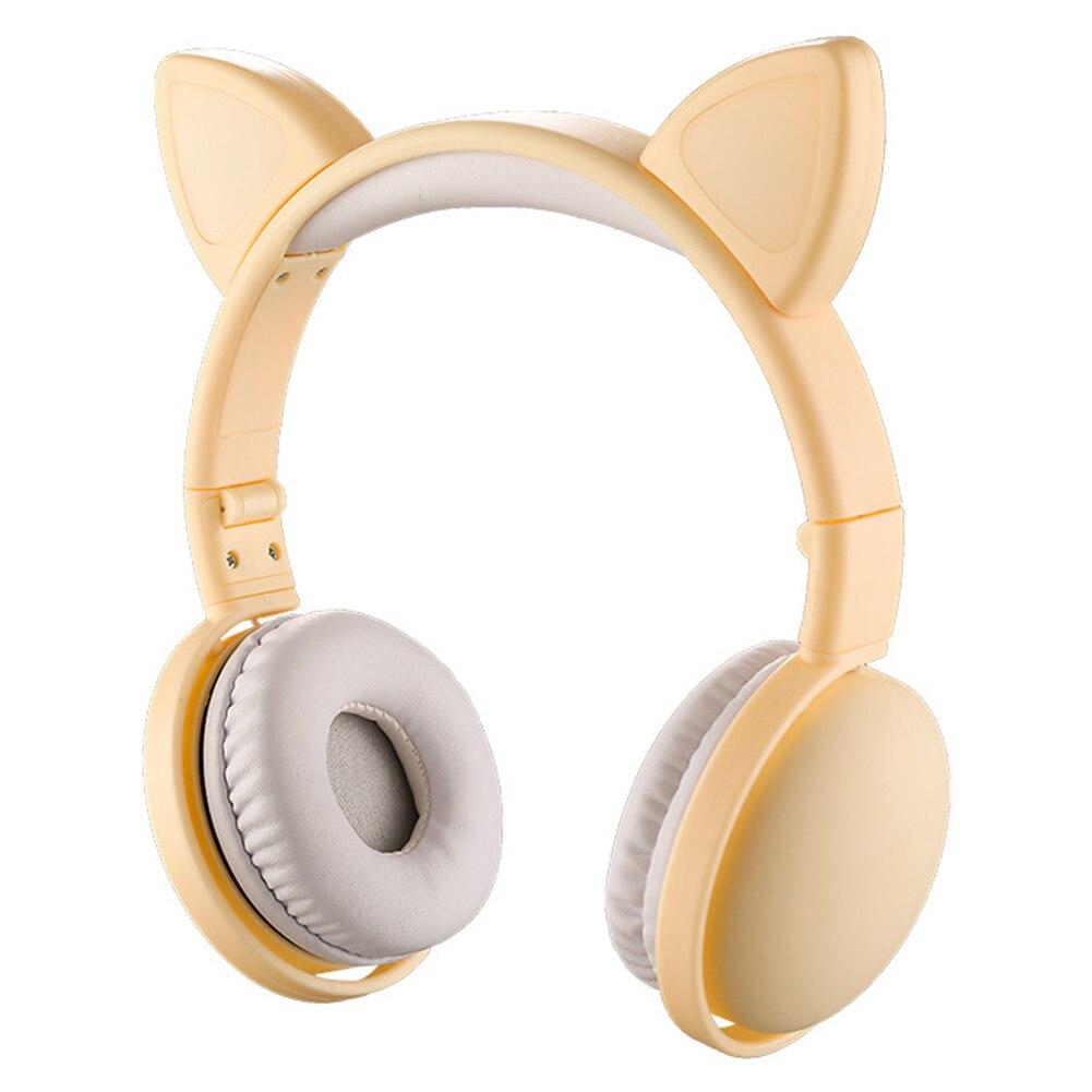 Luminous Cute Cat Ear Shape Wireless Headphone Music Gaming Headset for Phone/PC enlarge