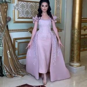 Evening Dresses With Beads Sleeve Vestido De Festa Crystal Evening Dress Gorgeous Long robe de soiree Saudi Arabic Gowns Evening