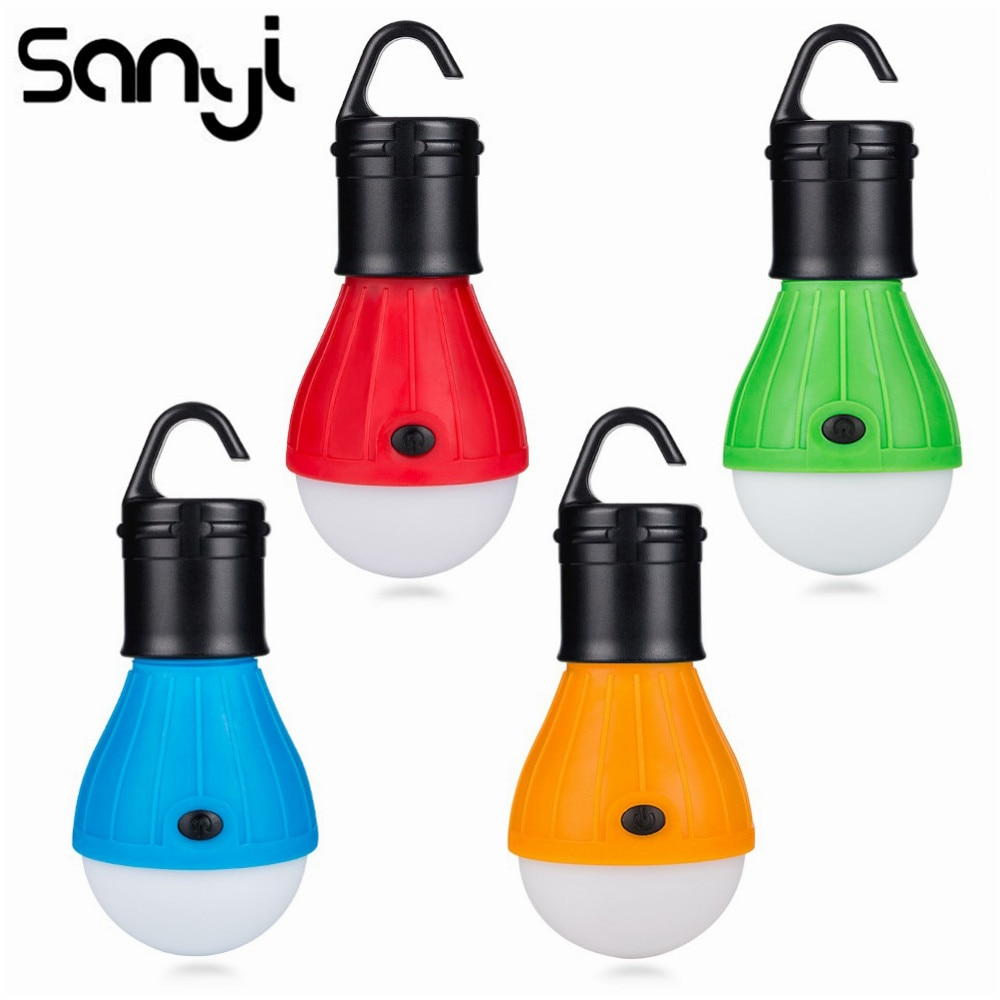 Mini Portable Lighting Lantern Tent Light LED Bulb Emergency Lamp Waterproof Hanging Hook Flashlight
