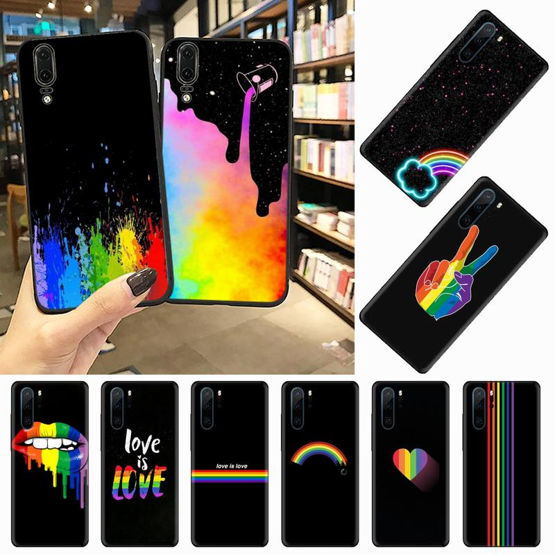 Rainbow art color painting Phone Case For Huawei honor Mate P 10 20 30 40 Pro 10i 9 10 20 8 x Lite