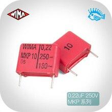 10 pièces/20 pièces allemagne importé WIMA 0.22uF 250v MKP10 série condensateur à film sans électrode