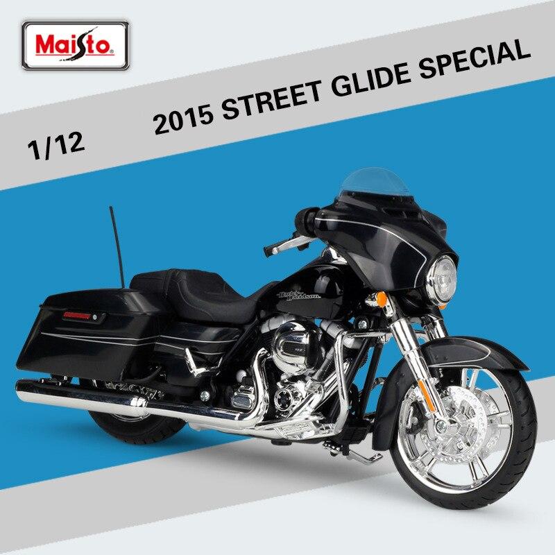 Модель мотоцикла Maisto 1:12 Street Glide, специальный литый под давлением, модель из сплава, Коллекционирование, для мальчиков
