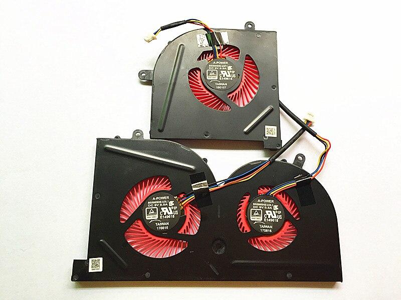 SSEA New CPU GPU Cooling Cooler Fan for MSI GS73 GS73VR MS-17B1 GS63VR GS63 Stealth Pro CPU BS5005HS-U2F1 GPU BS5005HS-U2L1