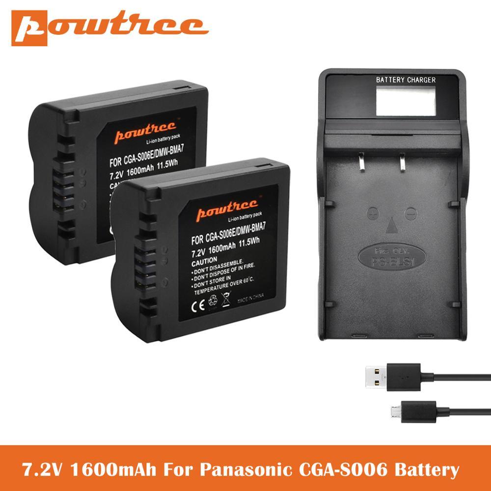 CGA-S006 DMW-BMA7 CGA S006 DMW BMA7 batería Li-Ion + cargador de batería LCD para Panasonic DMC FZ7 FZ8 FZ18 FZ28 FZ30 FZ35 FZ38 L50