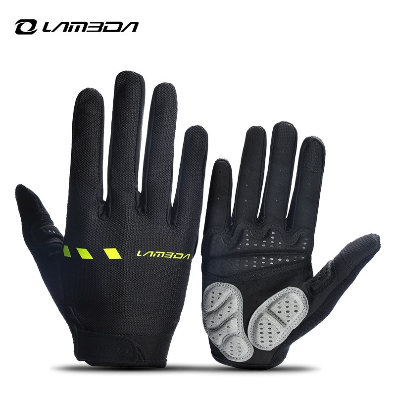 LAMPADA Bike Gloves Riding Outdoor Sports Gloves Breathable Sweat Absorbent Bike Full Finger Touch S