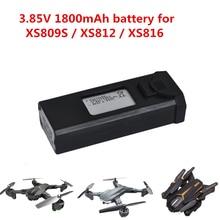 VISUO XS812 batterie 3.85V 1800mAh RC Drone GPS quadrirotor RC hélicoptère sac de transport