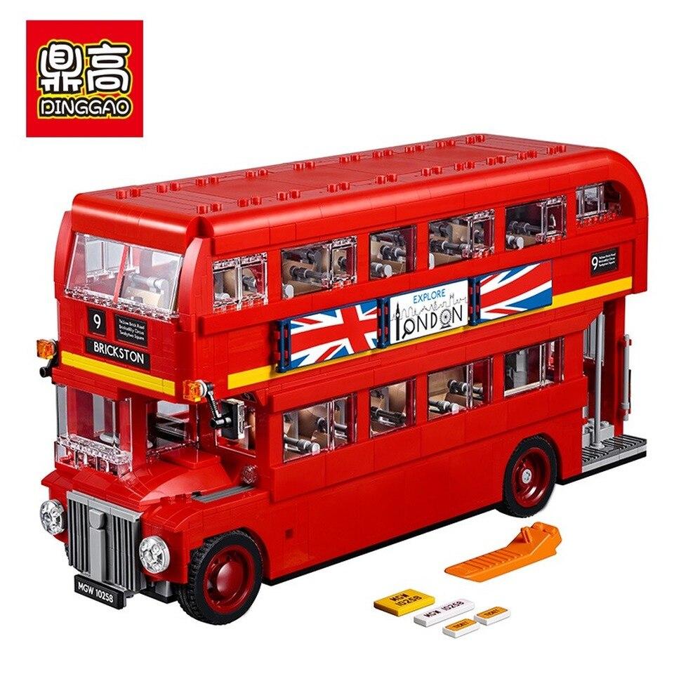 1266 de 1686 Uds creador de ciudades Londres edificio Y Autobus bloque de bloques compatibles de juguete lepiningly 10258 21045 DIY juguete de los niños regalos de cumpleaños