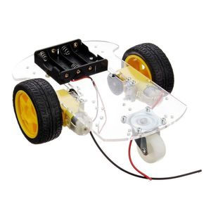 Transparent Motor Smart Robot Car Chassis Kit Speed Encoder Battery Box For Arduino DIY