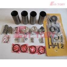 Pour yanmar moteur reconstruire 4TNE88 4D88E Piston + anneau + revêtement + joint + roulement + valve