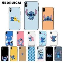 NBDRUICAI Cartoon Cute Stich Stitch TPU Soft Silicone Phone Case Cover for iPhone 11 pro XS MAX 8 7 6 6S Plus X 5 5S SE XR case
