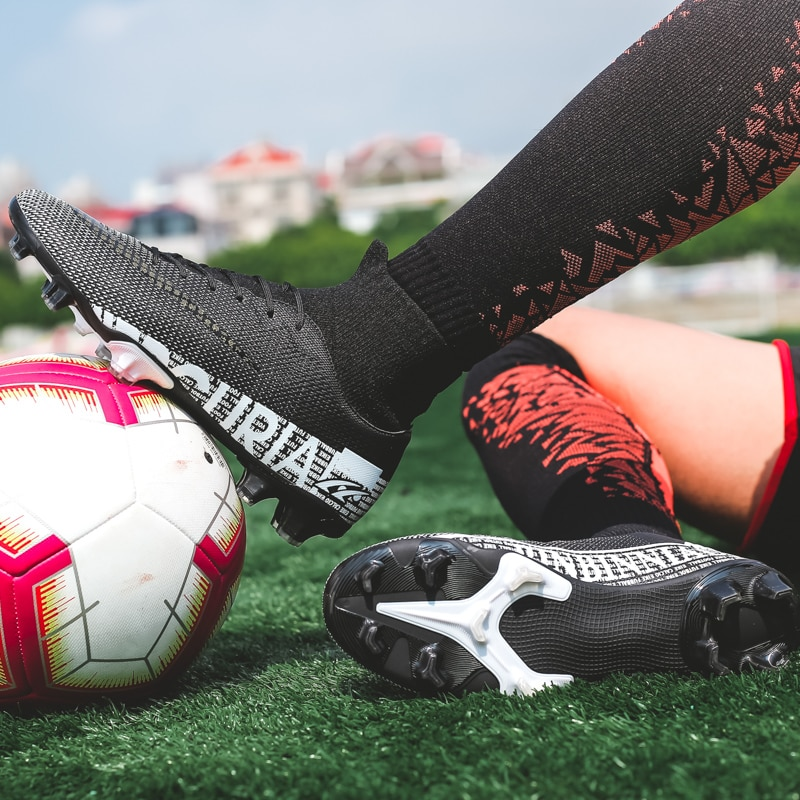 Фото - Мужская обувь для футбола, Дышащие футбольные бутсы для подростков, профессиональные игровые поля TF/FG клипсы, взрослые детские кроссовки, р... бутсы детские nike superfly 7 academy mds fg mg bq5409 110