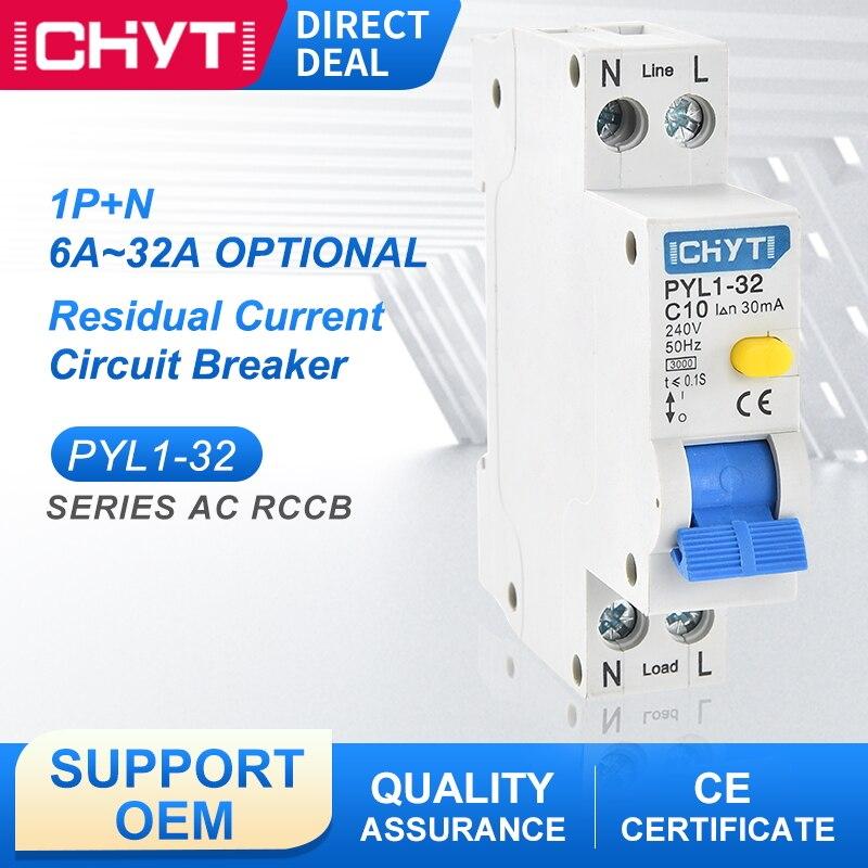AliExpress - PYL1-32 32A 240V 30mA Miniature Residual Current Circuit Breaker 1P+N Automatic Electromagnetic ELCB RCD RCCB