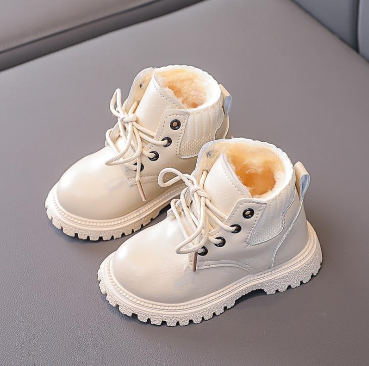moda quente inverno meninas meninos sapatos de inicializacao criancas do bebe engrossar