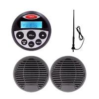 marine radio receiver bluetooth audio stereo car mp3 player3inch waterproof marine speakerfm antenna for rv boat yacht tractor
