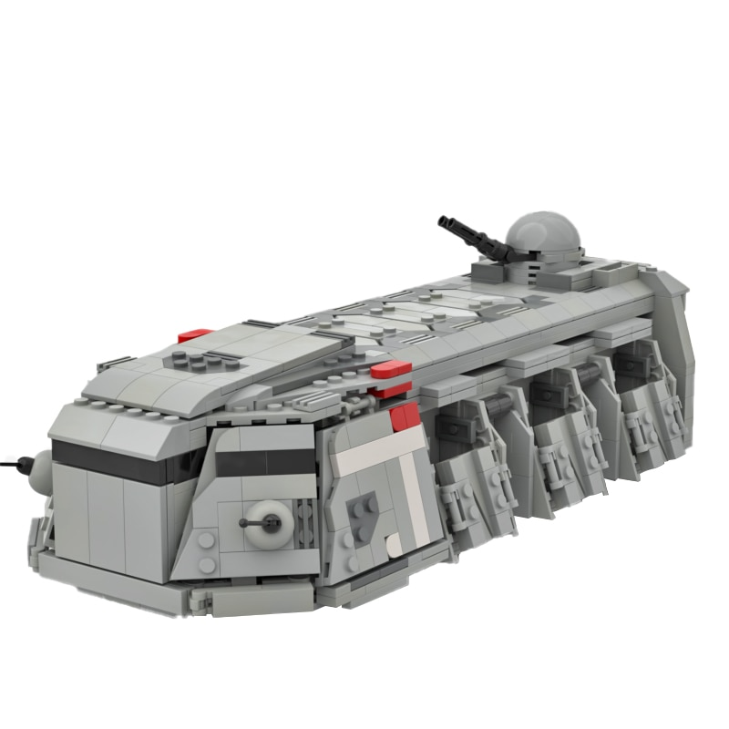 MOC Space Battle Series Transport Car Armed Troop Armored Transport Building Blocks High-Tech Creativity Toys for Children Gifts moc constrictor ii playable interdictor cruiser space battle high tech military transport model building blocks toy for children