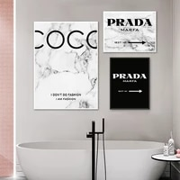 fashion coco quotes canvas posters and prints modern black white marble vogue pictures print on canvas home living room decor