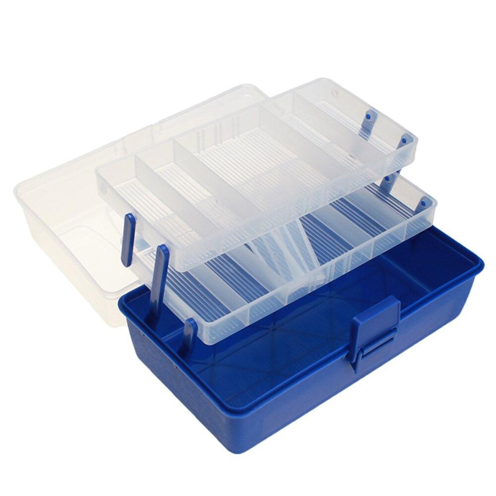 متعددة الوظائف البلاستيك طوي أداة صندوق مع مقبض صندوق العمل الطب خزانة مجموعة أدوات طلاء الأظافر Workbin للتخزين