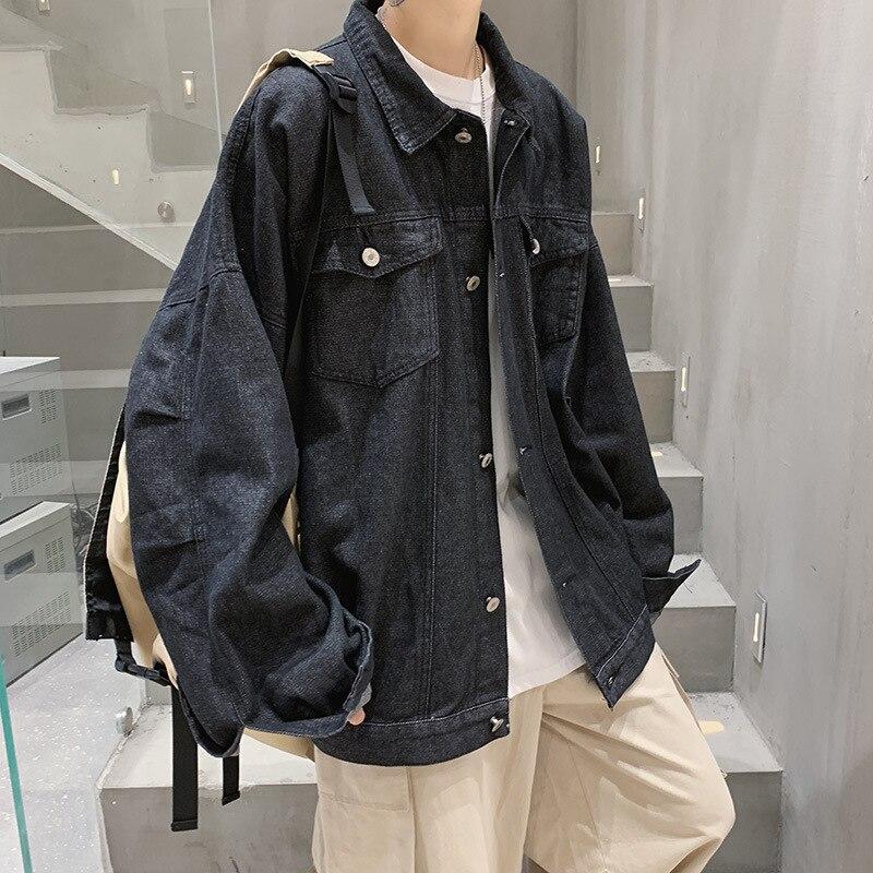 Мужская джинсовая куртка QIWN, Мужская осенняя куртка, свободная куртка, Мужская одежда, мужские куртки, джинсовая куртка, Мужская одежда