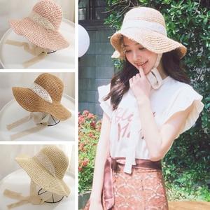 Summer Hat for Women  Ladies Beach Floppy Straw Hat Panama Cap  Uv Protection Summer Cap for Femaleat Travel Beach Travel