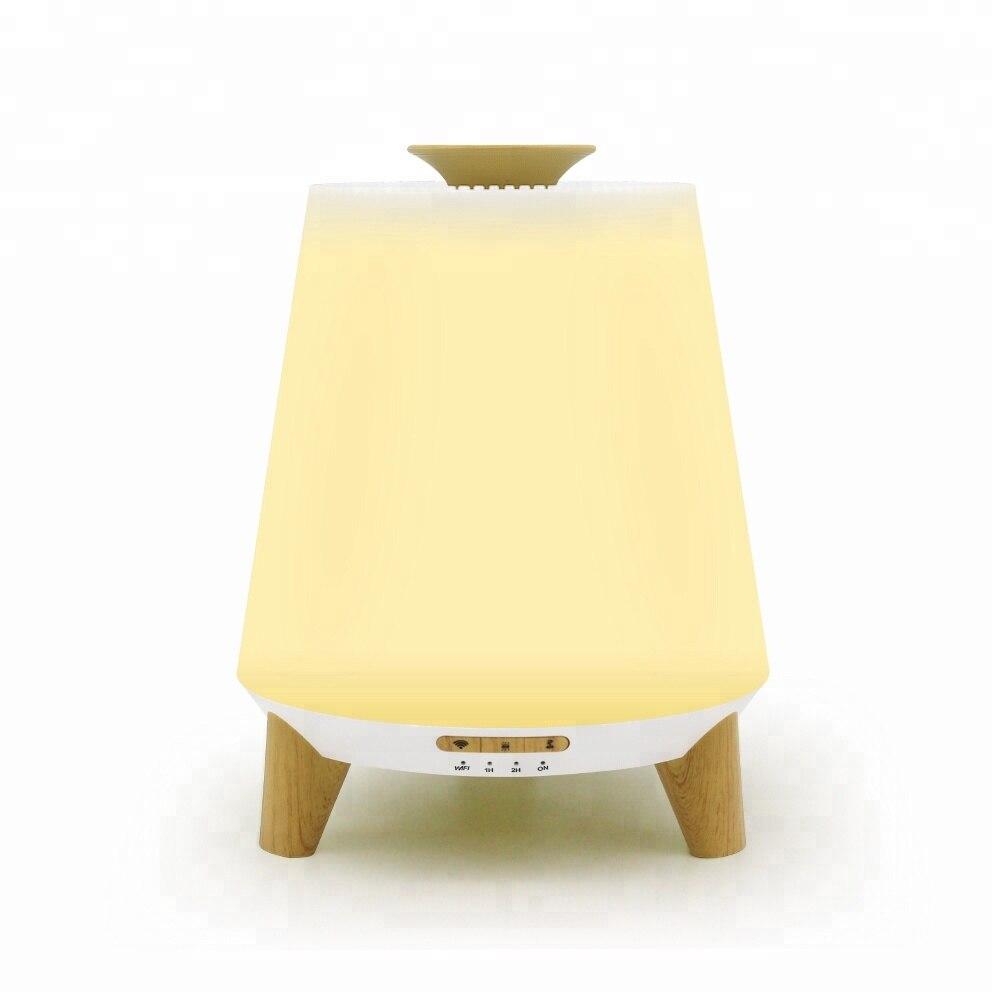 Luces de noche LED GRTCO humidificador de aire de aromaterapia difusor de Aroma de aceite esencial con altavoz funciona con aplicación de Alexa o Bluetooth