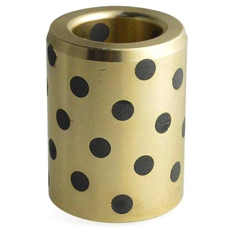 ABSS-Ball Bearing 10Pcs 8X15X24 Mm Linear Graphite Copper Set Bearing Bushing Oil Self-Lubricating Jdb Lm8Uu Lm8 8Mm