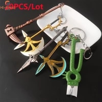 20pcslot the seven deadly sins keychain meliodas sword weapon model key ring for women man party gift prize accessories