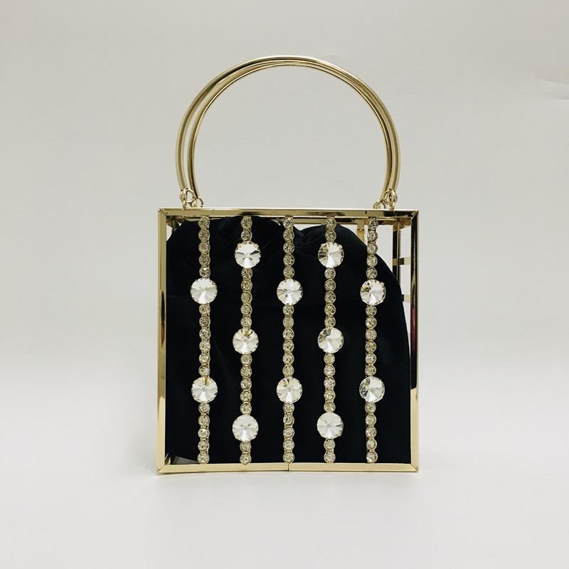 حقيبة يد نسائية مطرزة بالماس ، حقيبة سهرة ، فاخرة ، مصممة ، معدنية ، مخرمة ، لامعة ، حجر الراين ، زفاف العروس ، 2021