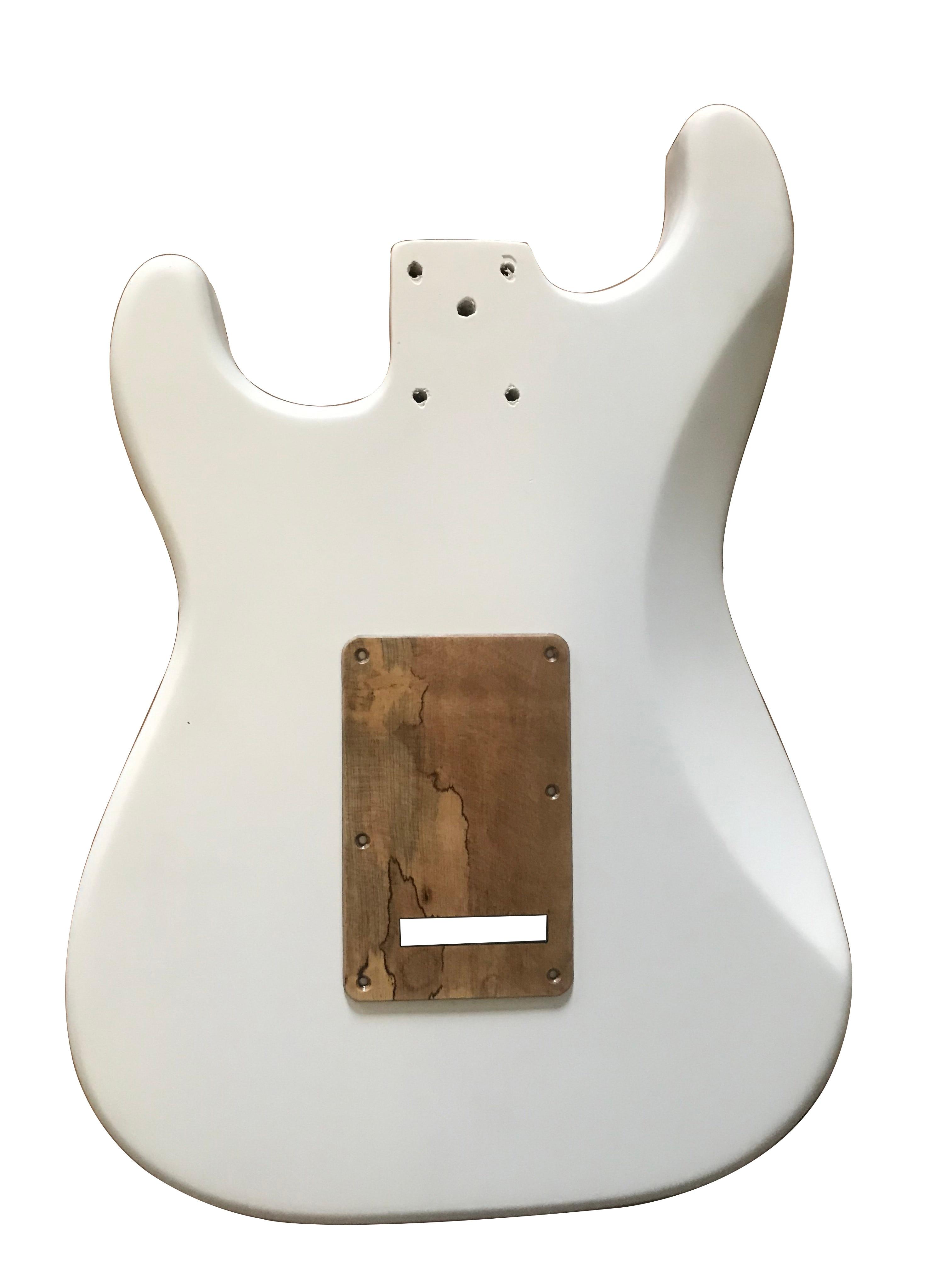 A set of Strat Electric Guitar Panel Alder Guitar Body&Pickguard&Backpalte Manual DIY White Guitar Barrel enlarge